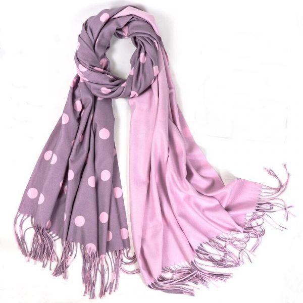 шарф под кашемир горохи
