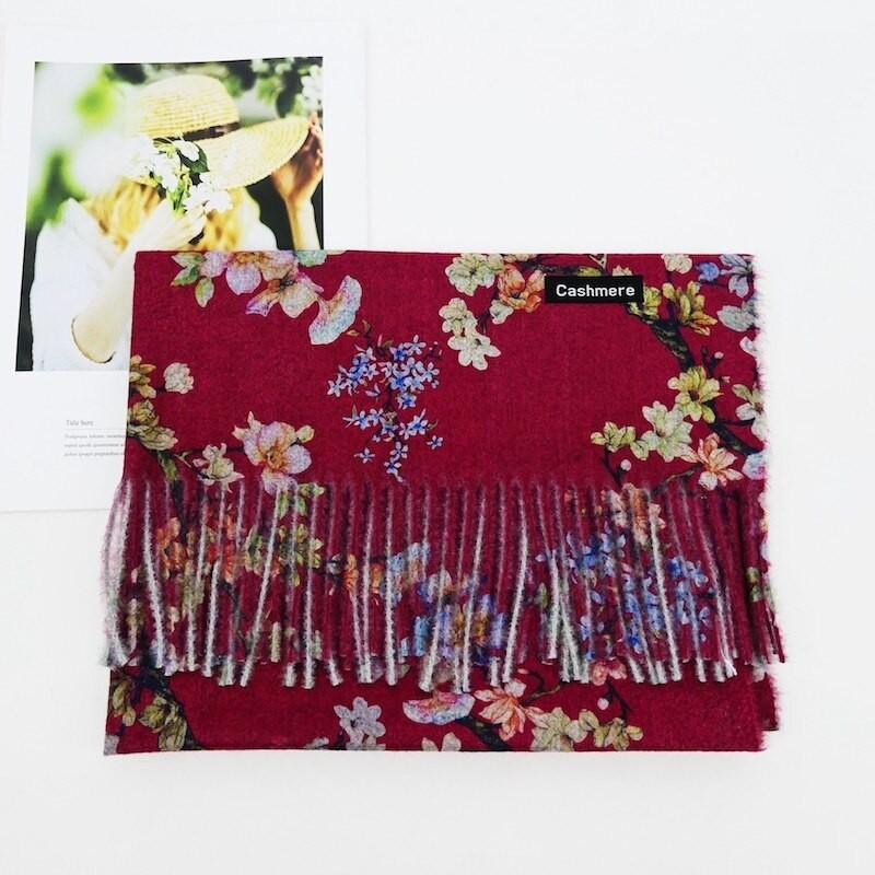 шарф под кашемир сакура